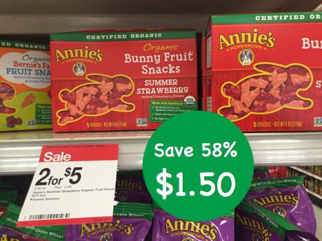 Annie's Organic Bunny Fruit Snacks Coupon Deal