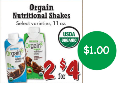 Orgain Nutritional Shakes Coupon Deal