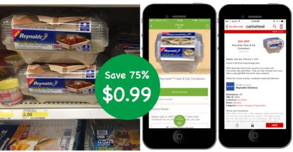 Reynolds Heat & Eat Container Coupon Deal