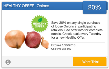 Savingstar Healthy Offer of the Week - Onions