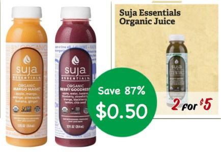Suja Essentials Organic Juice Coupon Deal