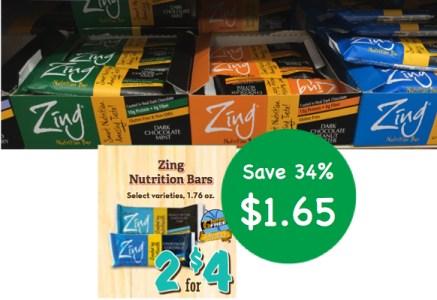 Zing Nutrition Bar Coupon Deal