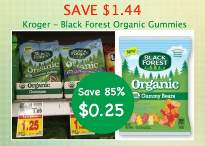 Black Forest Organic Gummy Worms Coupon Deal