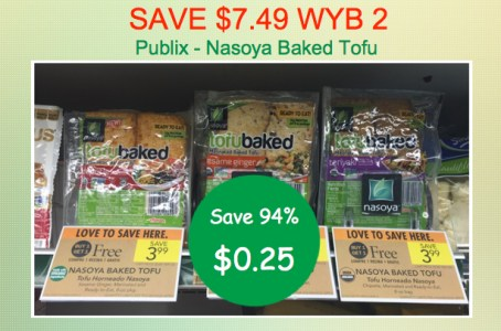 save 7 49 wyb 2 nasoya baked tofu coupon deal at publix for 0 25