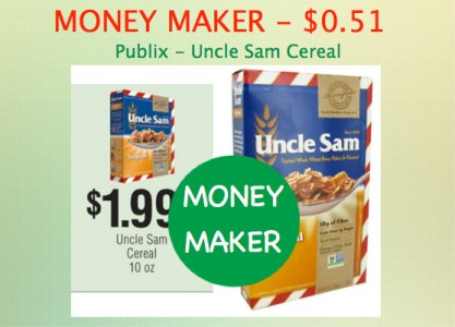 Uncle Sam Cereal Coupon Deal