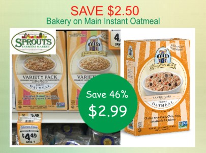 Bakery on main instant oatmeal coupon deal