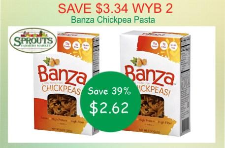 Banza Chickpea Pasta Coupon Deal