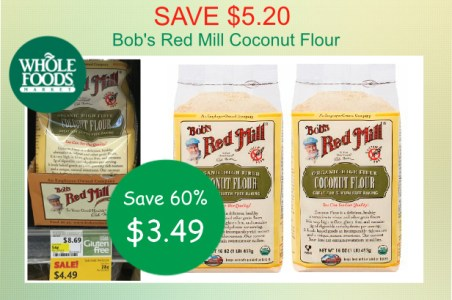 Bob's Red Mill Coconut Flour coupon deal