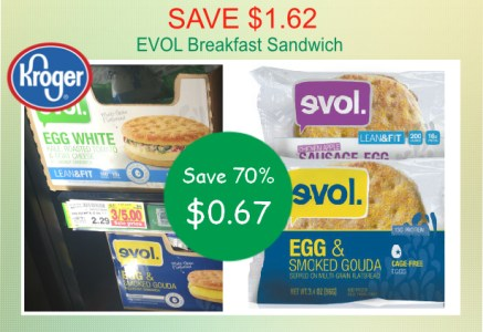 EVOL Breakfast Sandwich coupon deal