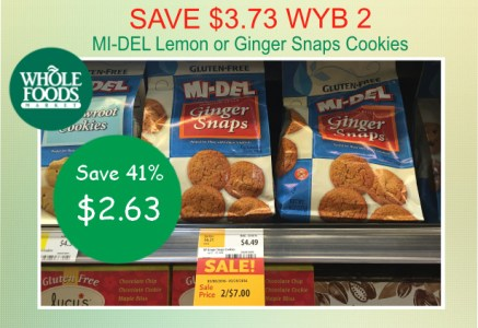 MI-DEL Lemon or Ginger Snaps Cookies coupon deal