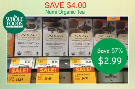 Numi Organic Tea coupon deal