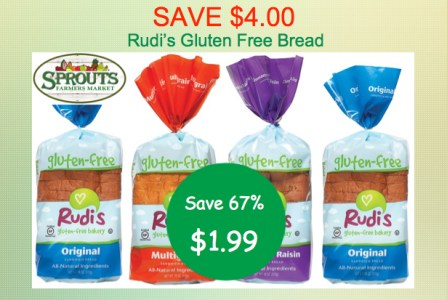 Rudi's Gluten Free Bread Coupon Deal
