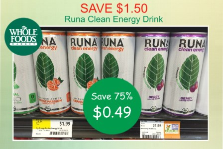 Runa Clean Energy Drink coupon deal