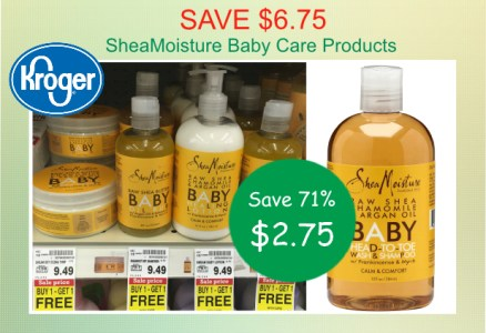 SheaMoisture Baby Care Products coupon deal