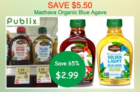 Madhava Organic Blue Agave Coupon Deal