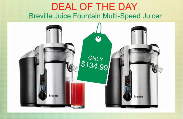 amazon breville juice fountain multispeed juicer for