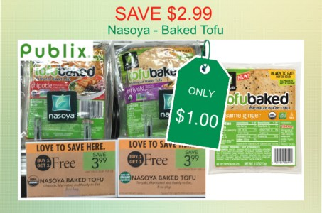 save 2 99 publix nasoya baked tofu coupon deal for 1 00