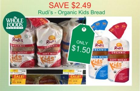 Rudi's Organic Kids Bread coupon deal