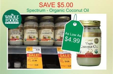 Spectrum Organic Coconut Oil 2 coupon deal