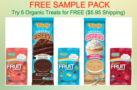 FREE SAMPLE PACK! Tasty Brand Organic Snacks - Pay $5 95