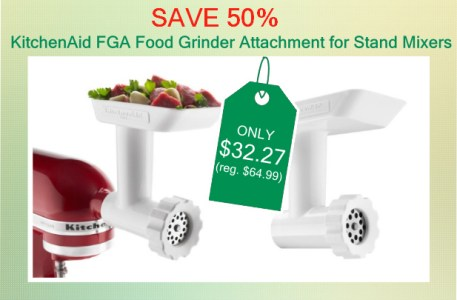KitchenAid FGA Food Grinder Attachment for Stand Mixers deal
