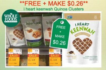 i heart keenwah Quinoa Clusters Coupon Deal