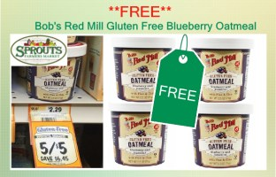 Bob's Red Mill Gluten Free Blueberry Oatmeal coupon deal