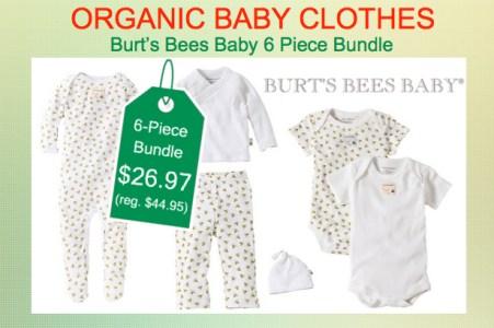Burt's Bees Organic 6 Piece Baby Bundle
