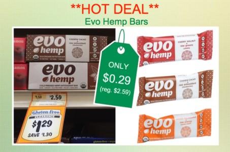 Evo Hemp Bars Coupon Deal