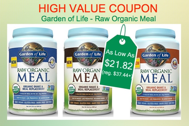 Garden of Life RAW Organic Meal - As Low As $21.82 (reg. $37.44+)!