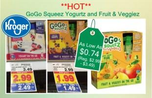 GoGo Squeez Yogurtz and Fruit & Veggiez coupon deal