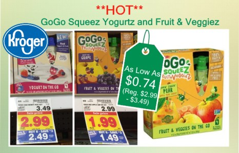 GoGo Squeez Yogurtz and Fruit & Veggiez coupon deal