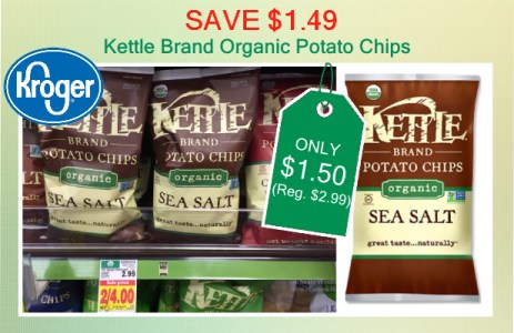 Kettle Brand Organic Potato Chips coupon deal