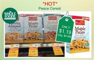 Peace Cereal coupon deal