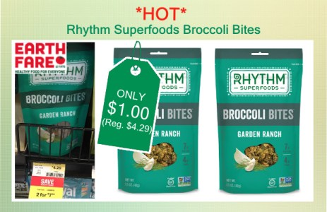 Rhythm Superfoods Broccoli Bites coupon deal