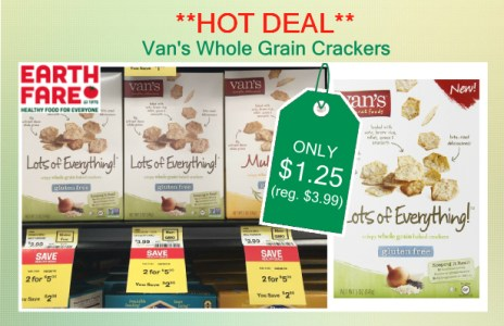 Van's Whole Grain Crackers coupon deal