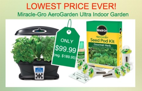Miracle-Gro AeroGarden Indoor Garden with Herb Seed Kit