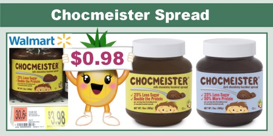 Chocmeister Chocolatey Hazelnut Spread coupon deal