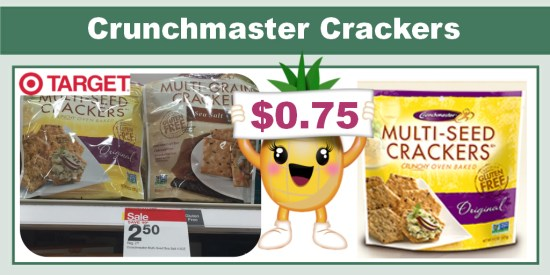 Crunchmaster Crackers coupon deal