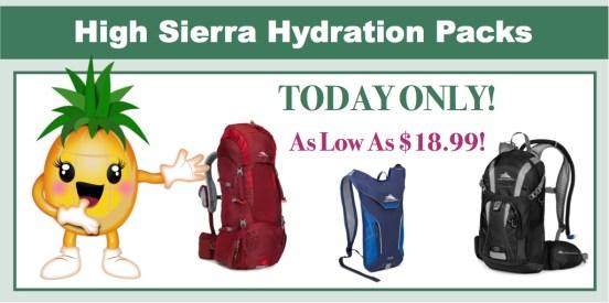 High Sierra Hydration Packs