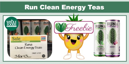 Runa Clean Energy Tea Coupon Deal