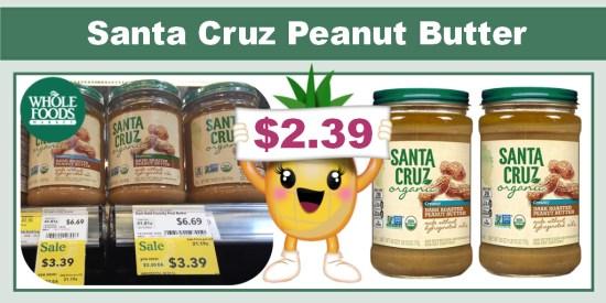 Santa Cruz Peanut Butter coupon deal