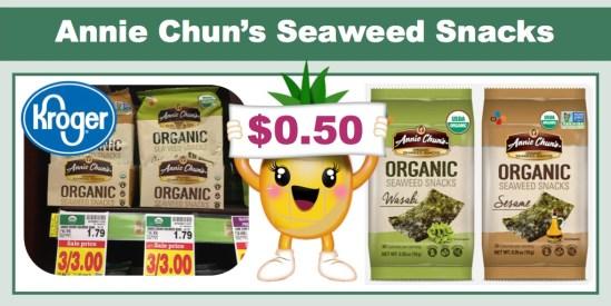 Annie Chun's Organic Seaweed Snacks Coupon Deal