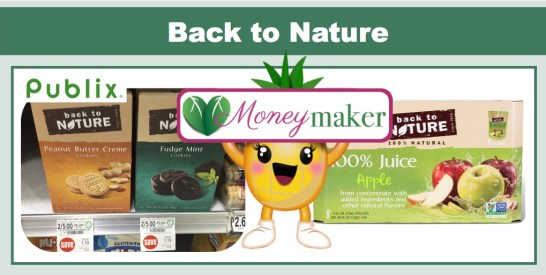 Back to Nature Cookies, Crackers and Juice