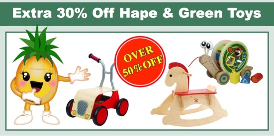 hape and green toys