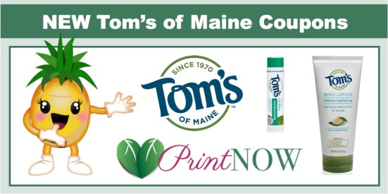 Tom;s of Maine Coupons