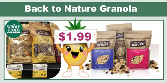 Back to Nature Granola coupon deal