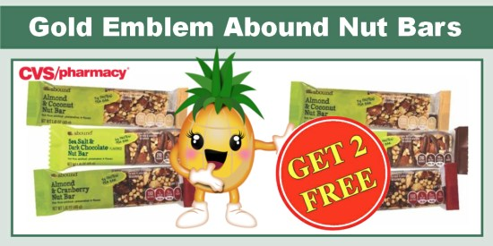 Gold Emblem Abound Nut Bars coupon deal