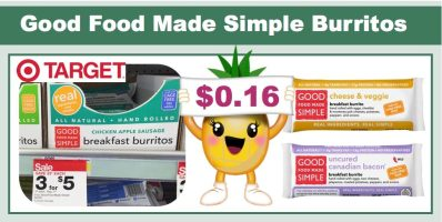 good food made simple burritos coupon deal