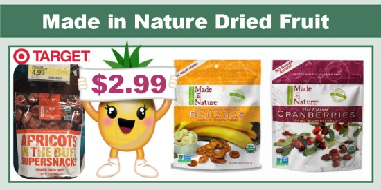 Made in Nature Organic Dried Fruit Coupon Deal